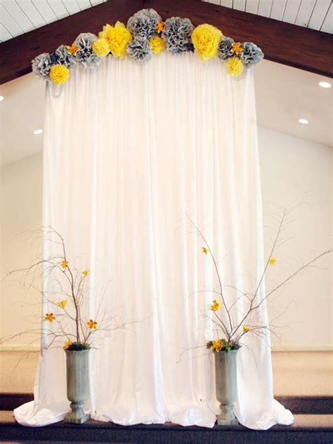 Yellow Wedding Arch by 36 Cheerful Grey And Yellow Wedding Ideas Weddingomania