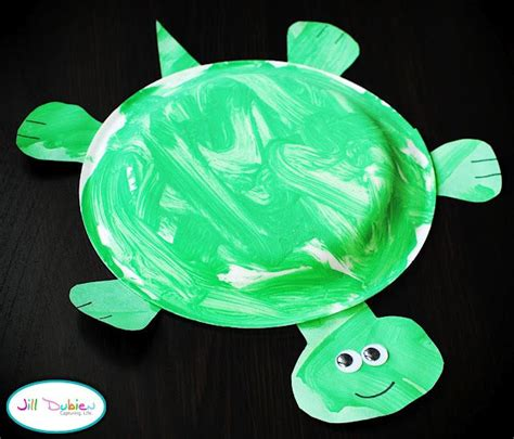 Paper Turtle Craft - paper plate turtle motor