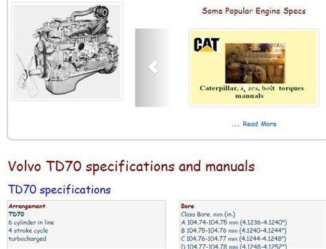 Volvo Diesel Engine Specs Bolt Torques Manuals