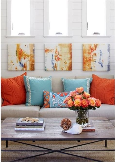 Turquoise And Orange Home Decor by 91 Best Coastal Color Inspiration Navy Teal Orange And Grey Images On Living