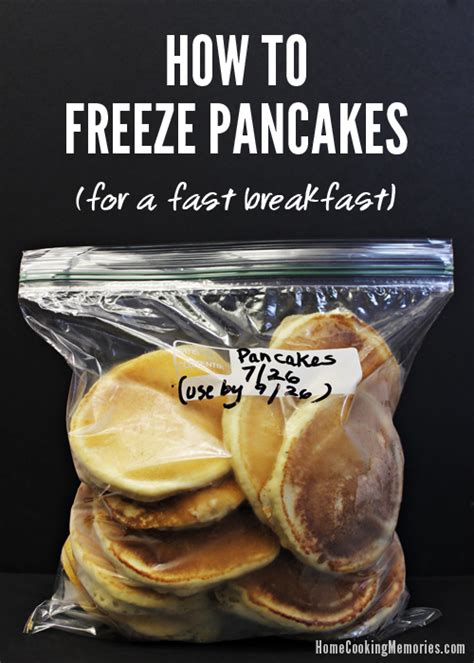 how to freeze pancakes for a fast breakfast