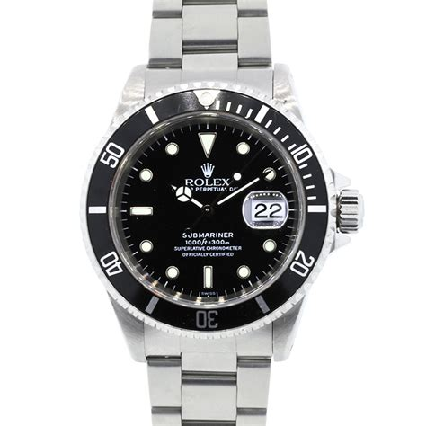 black rolex rolex 16610 submariner steel black dial watch boca raton