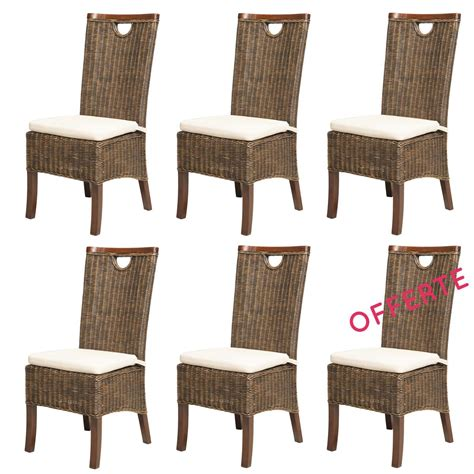 lot chaises en rotin meubles en rotin lot 6 chaises en