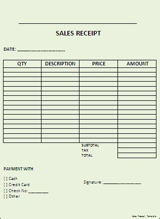 quarter page sales receipt template free receipt template cake ideas and designs