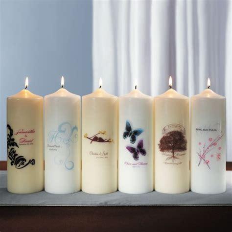 Custom Candles Filigree Personalised Pillar Candles Confetti Co Uk