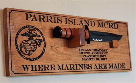ka bar display usmc bootc graduation gift personalized ka bar marine
