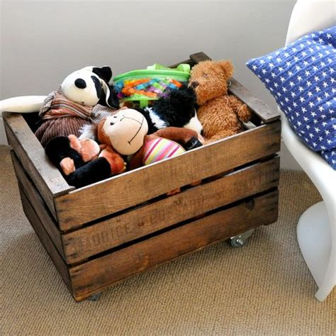 crate on wheels 26 comfy stuffed toys storage ideas shelterness