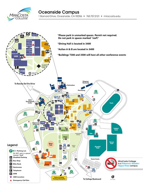 palomar college map miracosta college oceanside cus map mira costa college oceanside map mira costa college