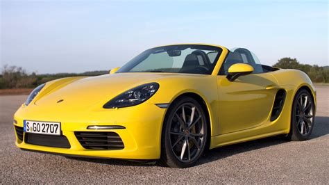 yellow porsche boxster 2017 porsche 718 boxster s racing yellow youtube