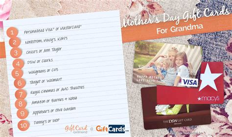 Grandma Gift Cards - top 10 mother s day gift cards for grandma gcg