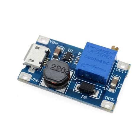 Mt3608 Dc Dc 2a Step Up Boost Converter Module Mini Power Booster mt3608 dc dc adjustable boost module 2a boost plate 2a