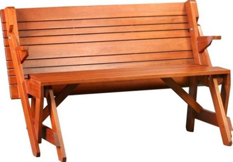 bench converts into picnic table two in one convertible bench and picnic table home