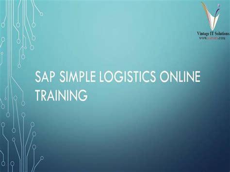 tutorial sap logistics sap logistics tutorial pdf sap logistics training sap