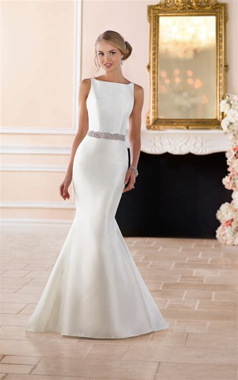 wedding dresses simple structured wedding gown stella york