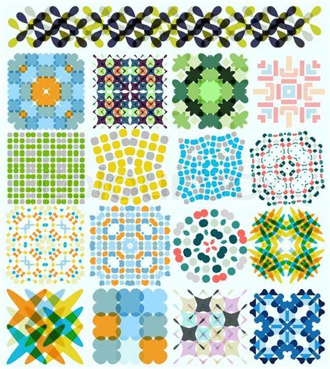 Vorlagen Mosaik Muster Geometrische Muster Set F 252 R Hintergr 252 Nde Banner Vorlagen Wallpaper Vektorgrafik Colourbox