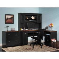 Desk With Hutch For Sale Furniture Black Corner Home Office Computer Desk With