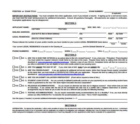 Civil Service Application Review Sle Civil Service Application Form 8