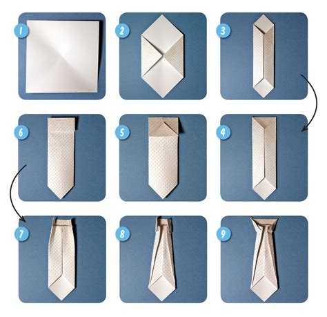 Origami Necktie - scrappin patch scrapbook supplies nz step by step