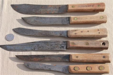 antique kitchen knives lot antique vintage high carbon steel kitchen butcher