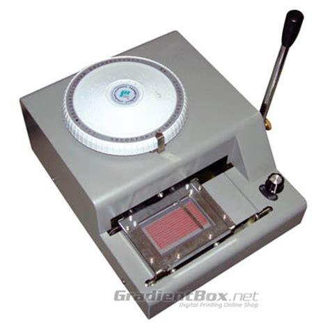 Mesin Id Card Otomatis mesin emboss untuk id card rp 5 9 juta