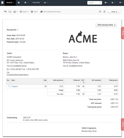 sle invoice receipt free invoices and receipts invoice templates excel invoice