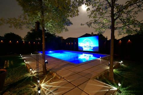 backyard pool in this awesome picture of his