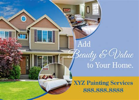 Design Your Own House Online Free 4 brilliant painting company direct mail postcard