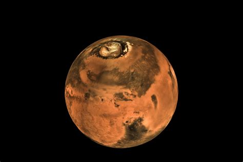 From Mars mcc 3d view made from mars global mosaic isro