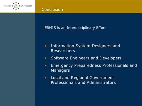 design of management information system design of emergency response management information systems