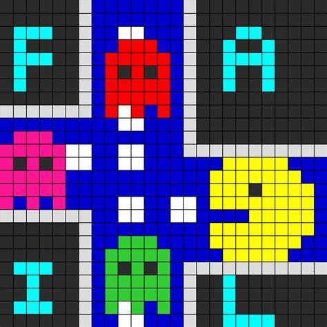 youtube pacman pattern pacman fail perler bead pattern bead sprites