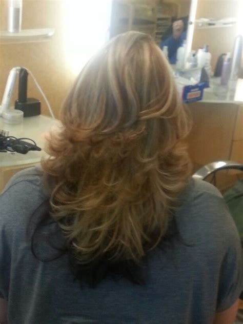 layred hairstyles eith high low lifhts 99 best hair styles images on pinterest