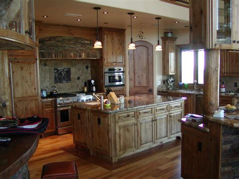 Made Kitchen Cabinets by Crafted Knotty Alder Custom Made Kitchen Cabinets