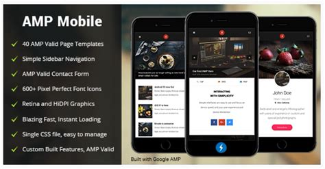 amp mobile mobile google amp template by enabled