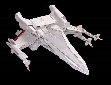 Origami Spaceship - starwarigami wars spaceships origami ufunk net