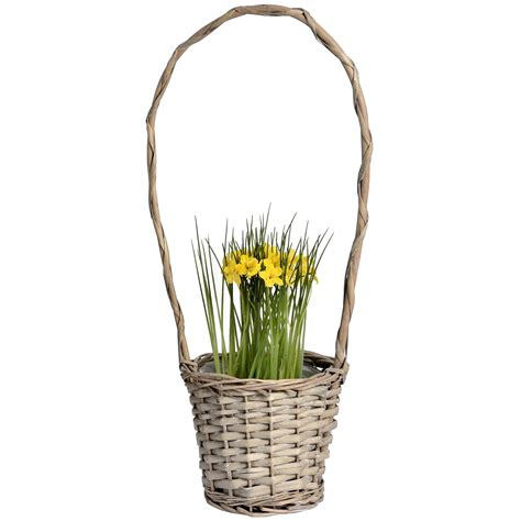 Woven Plant Holder - wicker plant holder from baytree interiors