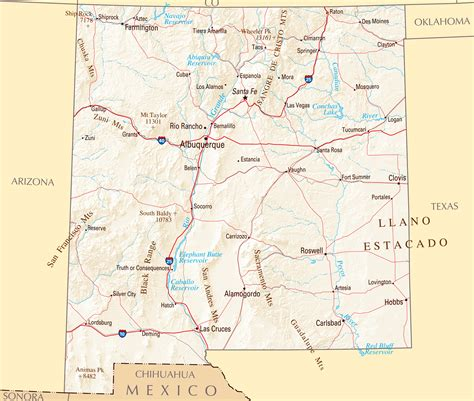 map of major cities in mexico major cities in new mexico