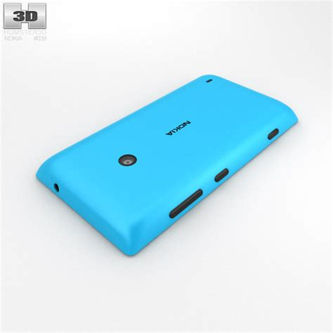 Nokia Lumia Cyan nokia lumia 520 cyan 3d model hum3d