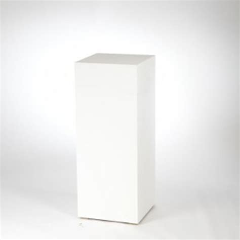 Glass Decorations For Home by White Display Plinth 100cm Wedding Planners Melbourne