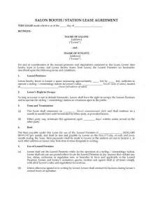 Chair Rental Agreement Template Salon Chair Rental Agreement Free Download Pictures To Pin
