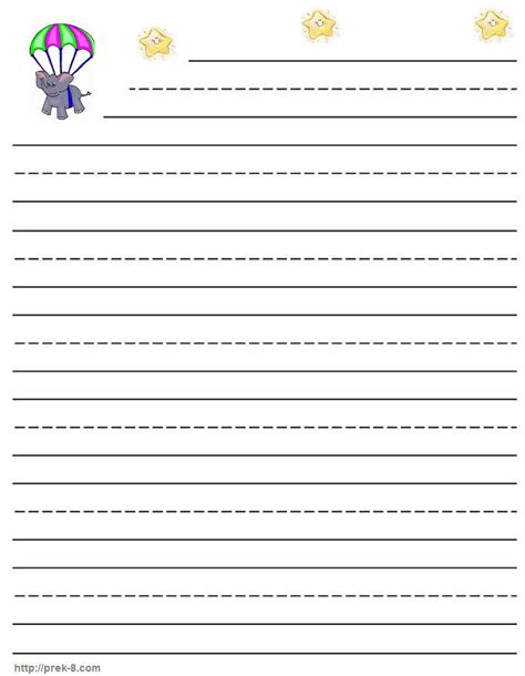 printable writing paper first grade 6 best images of first grade writing paper printable