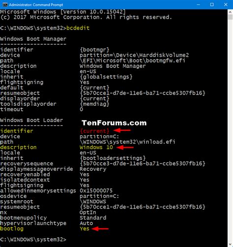 bcdedit tutorial windows 10 performance maintenance enable or disable boot log in