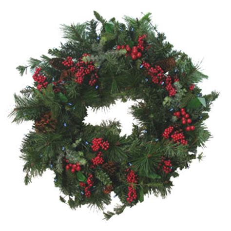 solar christmas winterberry wreath only 49 99 at garden fun