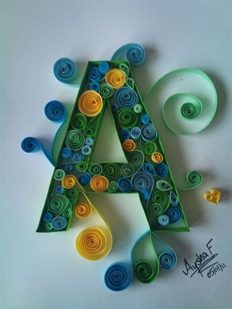 How To Make Paper Quilling Letters - the world s catalog of ideas