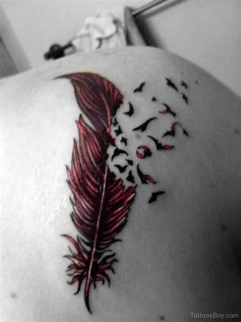 feather tattoo with birds feather tattoos designs pictures page 6