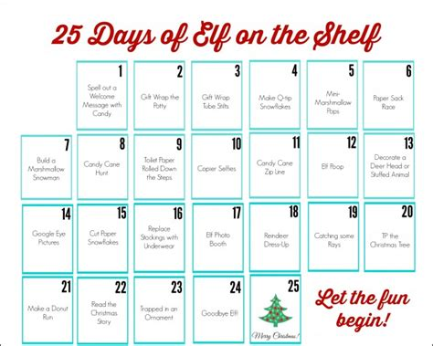 free printable elf on the shelf calendar elf on the shelf printable calendar uncommon designs