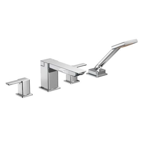 Moen 90 Degree Shower by 90 Degree Chrome Two Handle High Arc Tub Faucet Includes Shower Ts904 Moen