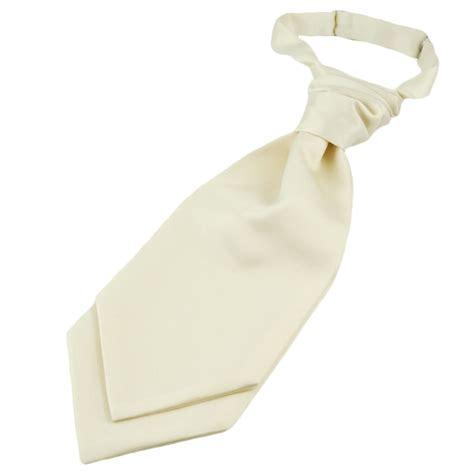 plain ivory boys scrunchie wedding cravat from ties planet uk