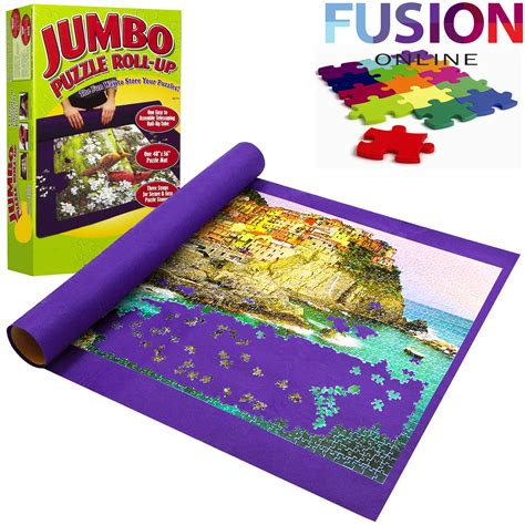 Roll Up Mats For Jigsaw Puzzles puzzle roll up mat jigsaw jumbo large 3000 pieces easy storage ebay