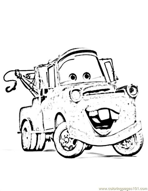 coloring pages mater truck cartoon tow truck cliparts co