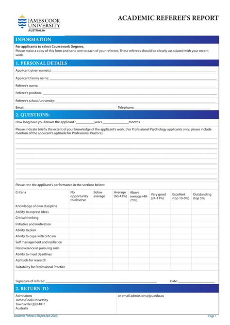 referee report template 14 referee report forms pdf doc